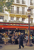 Paris Champs Elysees sidewalk cafe Le Madrigal