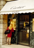 Paris Cartier shopfront in Place Vendome
