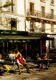 Montmartre Parisian sidewalk cafe