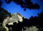 Huangshan (Yellow Mountain) climbers on Lotus Peak