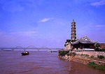 Jiujiang's Suo Jiang Pagoda along the Yangtze River