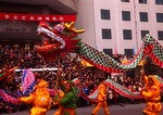 Dragon Dance at Lunar New Year/Spring Festival in Pingyao