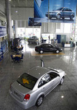 Xian GM dealership with Buicks in showroom
