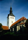 Tallinn's Saint Nicholaus church in Old Town