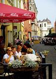 Tallinn Old Town street cafe