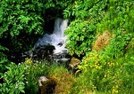 Iceland's Thormork Valley, small water fall in a stream