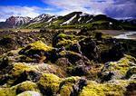 Iceland's Landmannalauger rhyolite peaks and rocky volcanic landscape