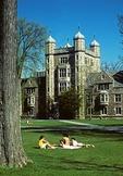University of Michigan campus, diag in spring