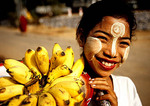 Bago girl selling bananas