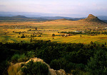 View of Zulu chiefs of Isandlwana battlefield in 1879 Anglo-Zulu War in KwaZulu-Natal South Africa