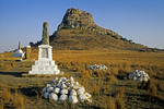 Isandlwana battlefield in 1879 Anglo-Zulu War in KwaZulu-Natal, South Africa