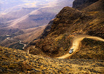Lesotho's Sani Pass in Drakensberg mountains, up from KwaZulu-Natal in South Africa