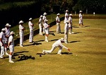 Lawn bowlers at Wanderers private club in Johannesburg suburb of Sandton