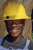 Gold miner at Gold Reef City in Johannesburg