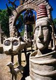 The Owl House, Helen Martins Museum, in Groot Karoo town of Nieu-Bethesda