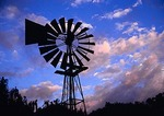 Windmill on sheep farm in the Groot Karoo near Nieu-Bethesda