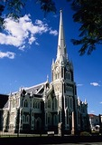 Dutch Reformed Church modeled after Salisbury Cathedral in Great Karoo town of Graaff-Reinet