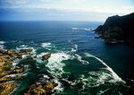 Knysna Heads opening to the Indian Ocean from the Knysna Lagoon