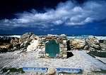 Cape Agulhas where Indian and Atlantic oceans meet at southern tip of African continent