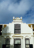 Boschendal Wine Estate manor house in Cape Dutch architectural style in Cape Winelands