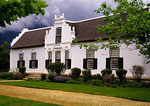 Boschendal winery manor house in Cape Dutch architectural style in Cape Winelands