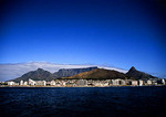 Cape Town skyline from Atlantic Ocean