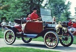 Antique Model T Ford in automobile rally in Greenfield Village at The Henry Ford