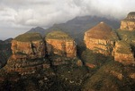 Blyde River Canyon's Three Rondavels rock formation on the Panorama Route