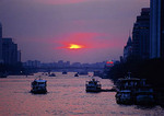 Sunset over the Pearl River at Guangzhou