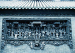 Chen Clan Academy ancestral hall wall decoration, housing the Guangdong Folk Art Museum