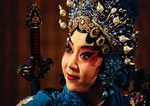 Beijing Opera lead actress in Stealing Silver from the National Bank at Liyuan Theater