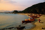 Hainan Island's Sanya Bay beach on South China Sea