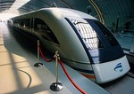 Shanghai Maglev Train in station