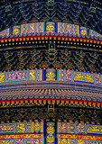 Temple of Heaven's Hall of Prayer for Good Harvests freshly repainted detail