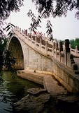 Summer Palace's Jade Belt Bridge (Yudai Qiao) over inlet of Yu River to Kunming Lake