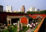 Shenyang skyline from courtyard of the Imperial Palace