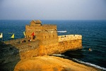 The Great Wall meets the Bohai Sea at Old Dragon's Head (Lao Long Tou) which was reconstructed in 1992