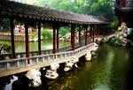 Covered zigzag corridor in Yu Yuan (Yu Garden) in Shanghai's Old Town