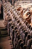 Terra Cotta Army of Emperor Qin in Pit #1 of the Qin Shihuangdi Museum