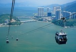 Ngong Ping 360 Skyrail Cable Car on Lantau island