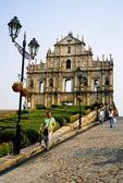 Macau's St. Paul's (Sao Paulo) Cathedral stone facade