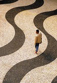 Macau's Senado Square's Portugese tile work