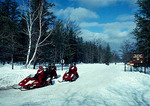 Baldy Lake Snowmobile Route in Hiawatha National Forest in Upper Peninsula of Michigan