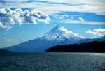 Orsono volcano from Lago (Lake) Llanquihue