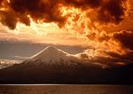Orsono volcano from Lago (Lake) Llanquihue