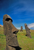 Easter Island's Rano Raraku moai