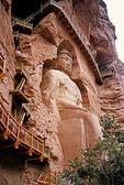 27-meter-high Maitreya Buddha at Bingling Si caves
