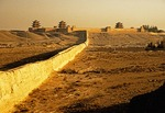 Western terminus of Great Wall at Jiayuguan fortress
