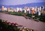 City of Lanzhou on the Yellow River in 2006.