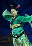Xi'an Tang dynasty dancer in performance of The Silk Road